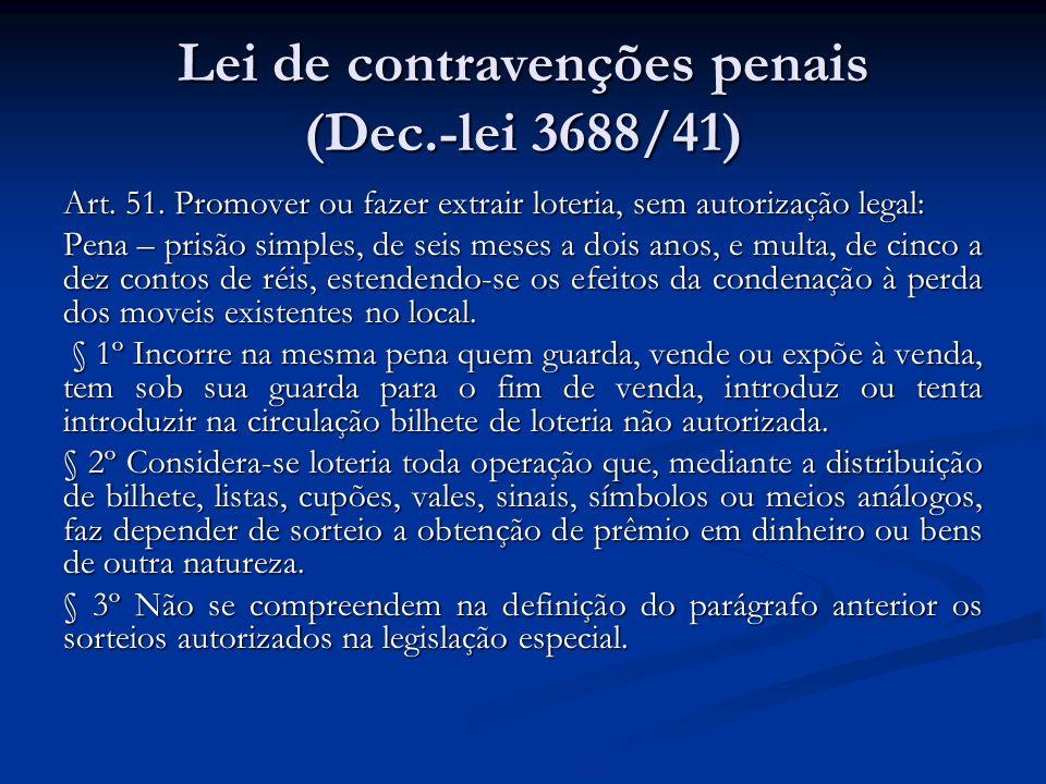 Lei de contravenções penais (Dec.-lei 3688/41)