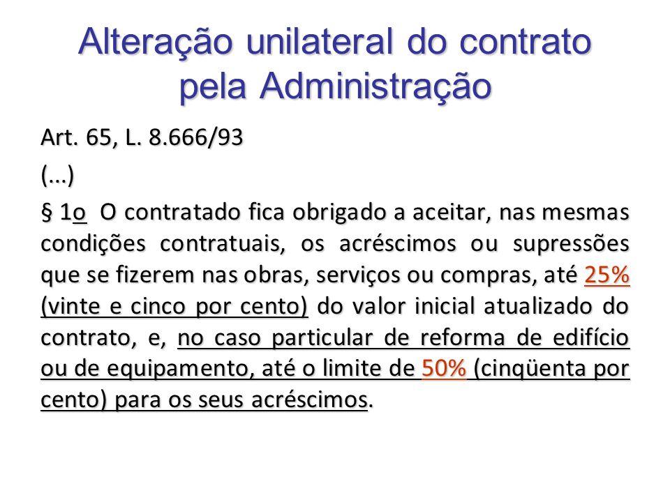 Alteração unilateral do contrato pela Administração