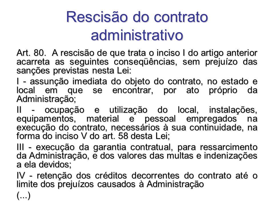 Rescisão do contrato administrativo