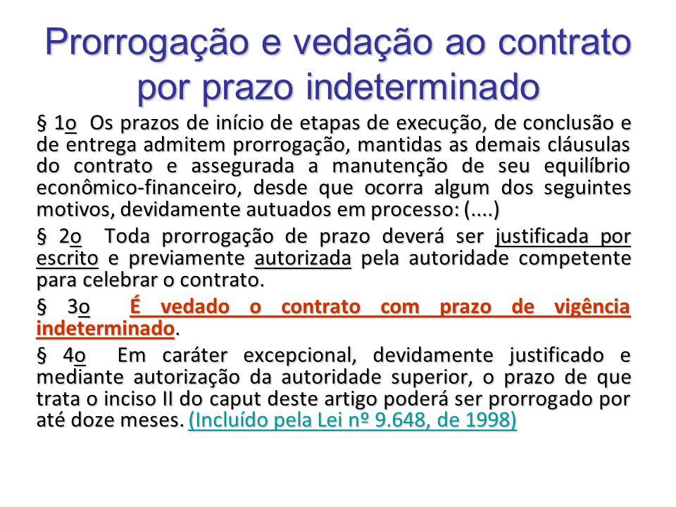 Prorrogação e vedação ao contrato por prazo indeterminado