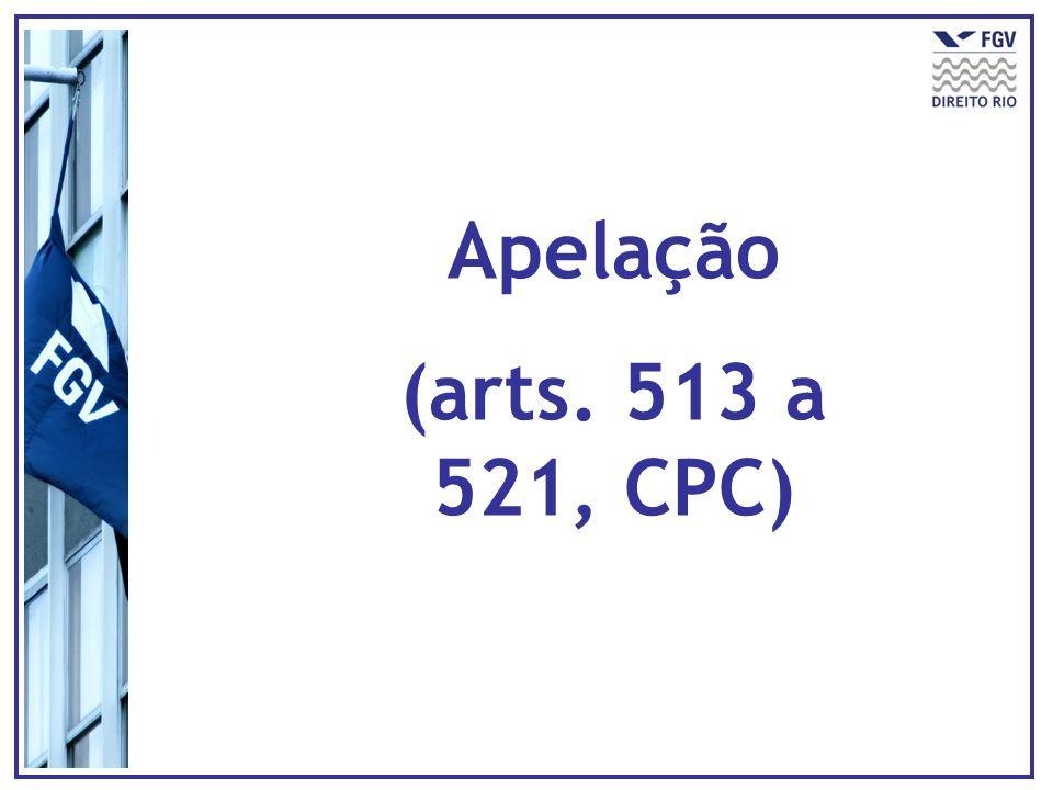 Apelação (arts. 513 a 521, CPC)