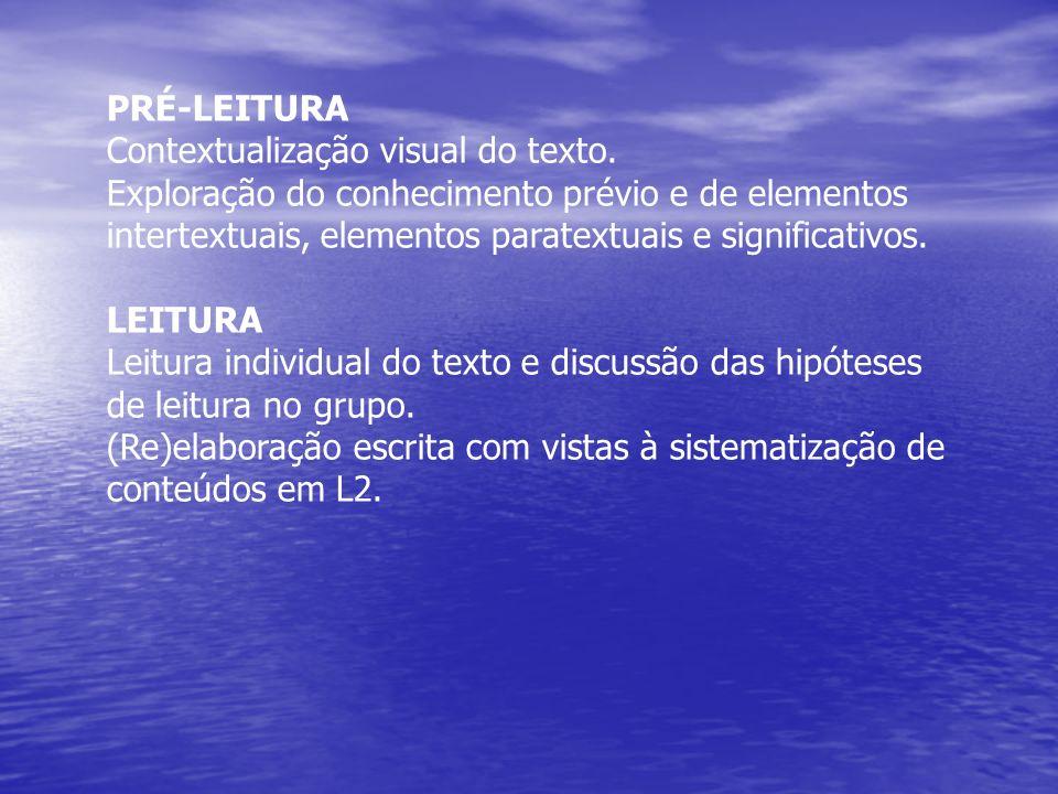 PRÉ-LEITURA Contextualização visual do texto.