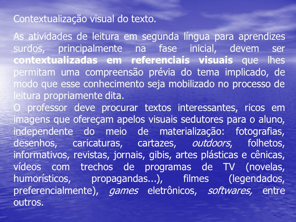 Contextualização visual do texto.