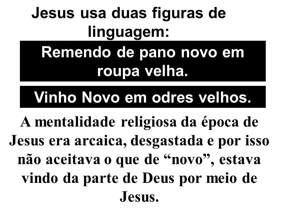 Jesus usa duas figuras de linguagem: