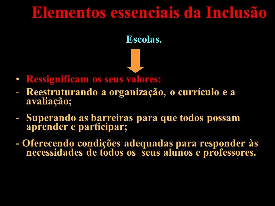 Elementos essenciais da Inclusão