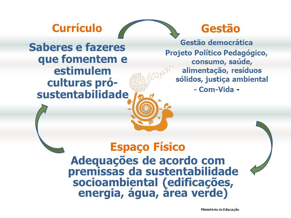 Currículo Saberes e fazeres que fomentem e estimulem culturas pró- sustentabilidade. Gestão. Gestão democrática.