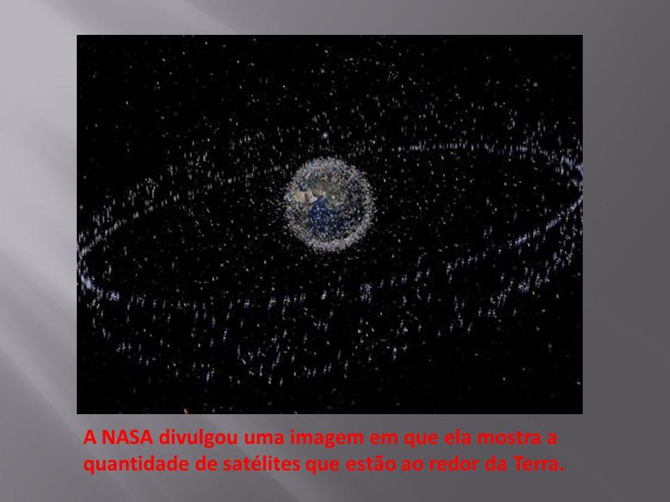 A NASA divulgou uma imagem em que ela mostra a quantidade de satélites que estão ao redor da Terra.