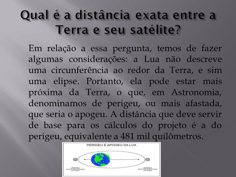 Qual é a distância exata entre a Terra e seu satélite