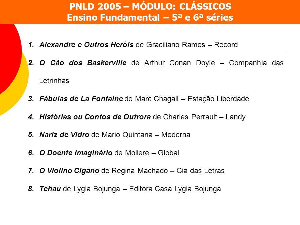 PNLD 2005 – MÓDULO: CLÁSSICOS Ensino Fundamental – 5ª e 6ª séries