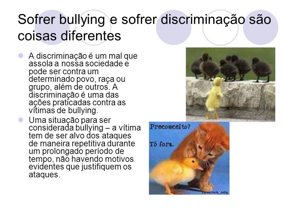 Sofrer bullying e sofrer discriminação são coisas diferentes
