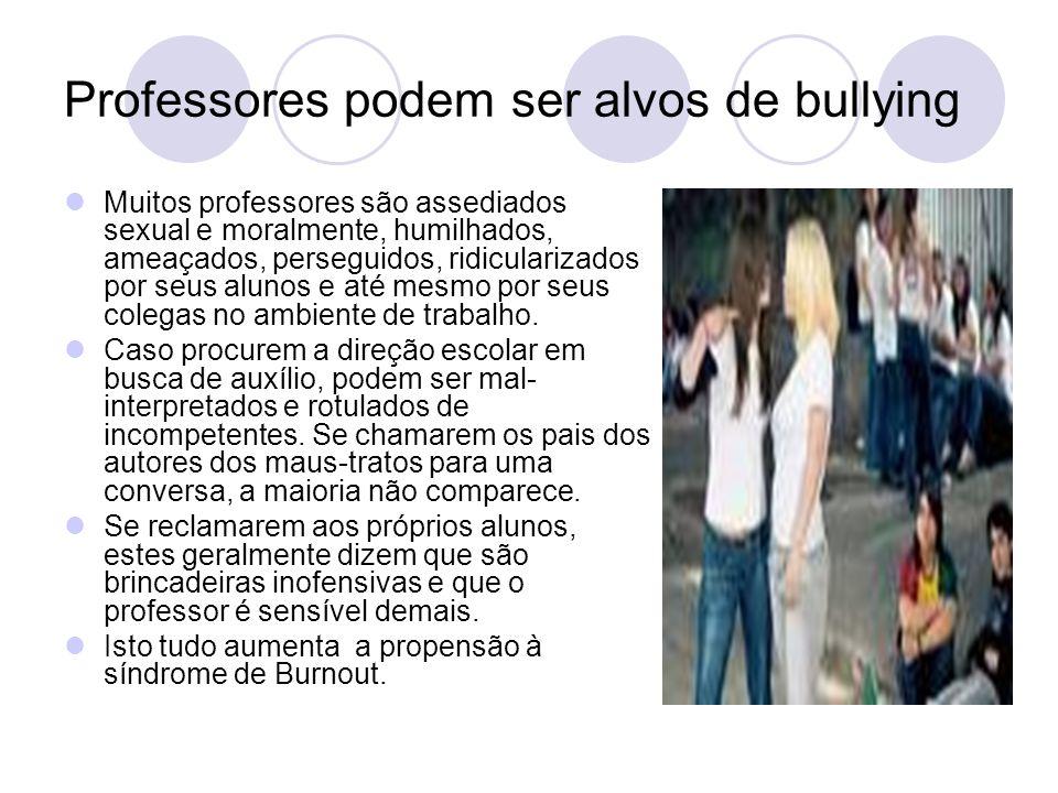 Professores podem ser alvos de bullying