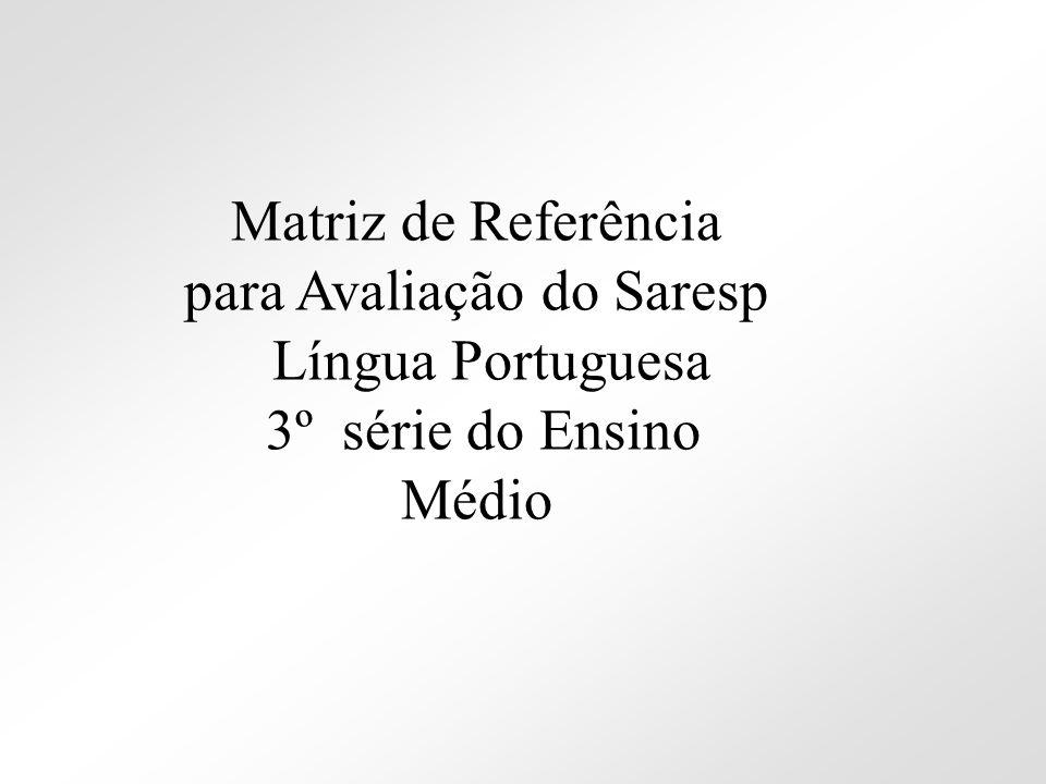 Matriz de Referência para Avaliação do Saresp