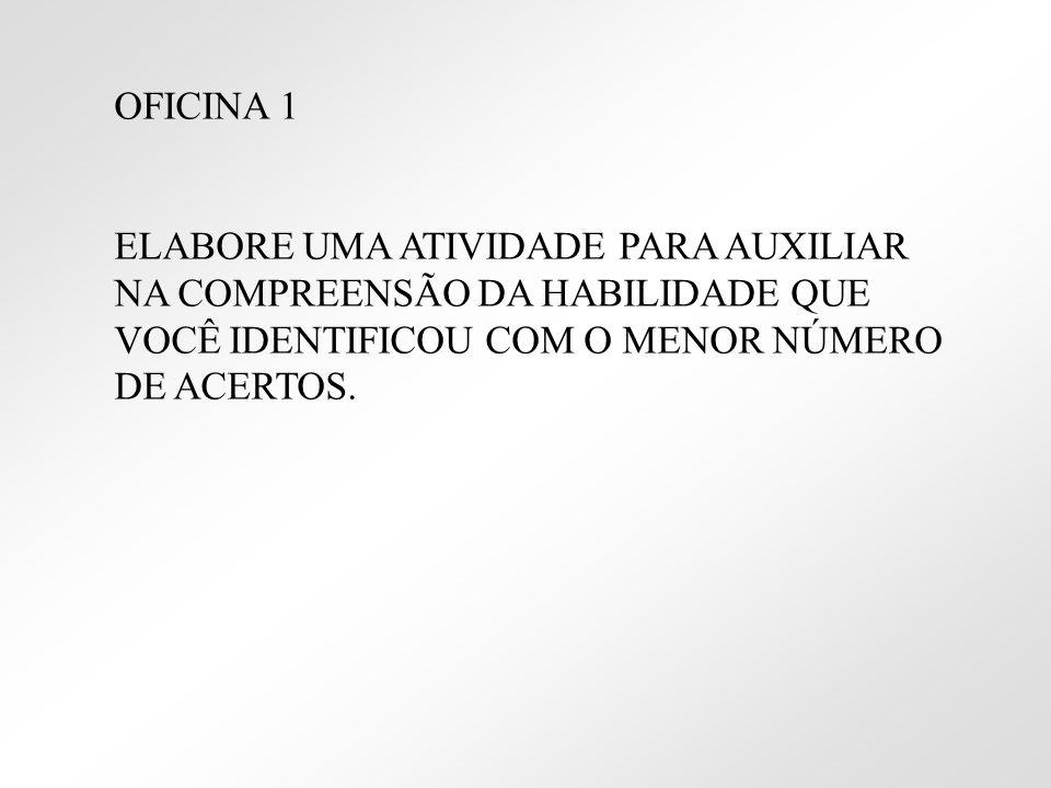 OFICINA 1 ELABORE UMA ATIVIDADE PARA AUXILIAR NA COMPREENSÃO DA HABILIDADE QUE.