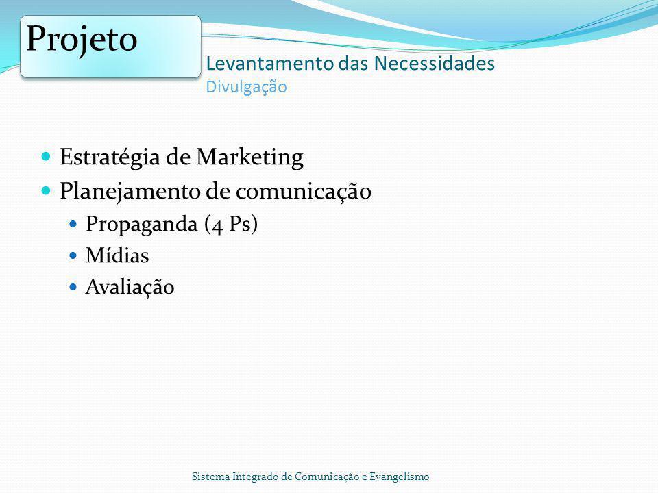 Projeto Estratégia de Marketing Planejamento de comunicação