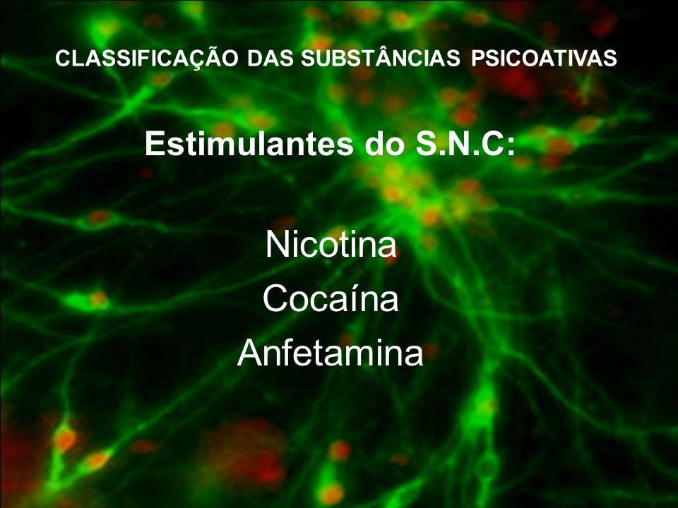 CLASSIFICAÇÃO DAS SUBSTÂNCIAS PSICOATIVAS