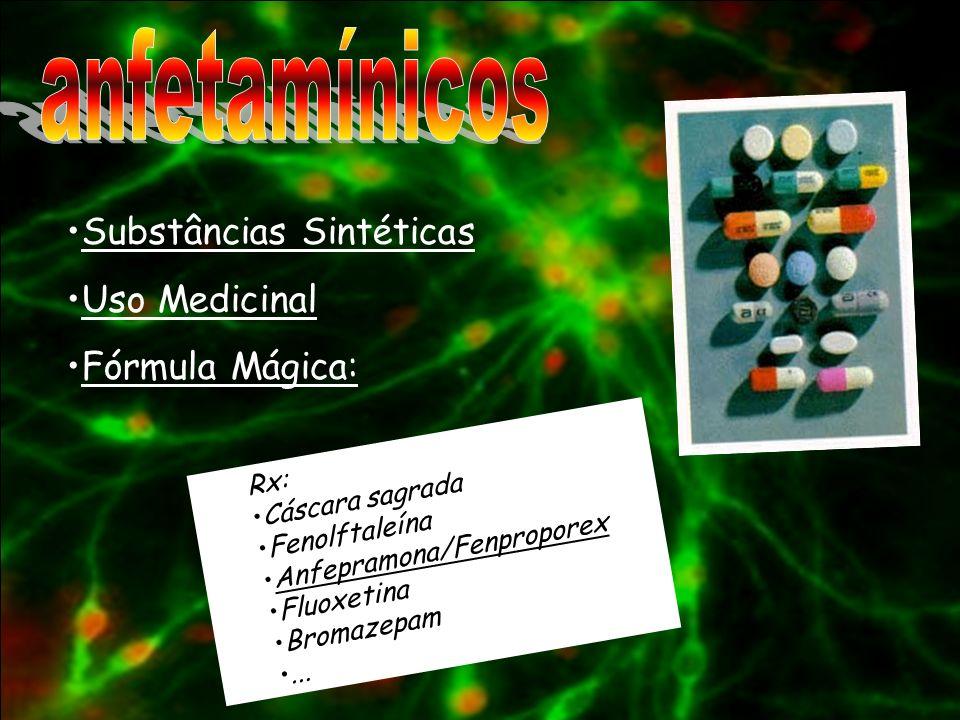 anfetamínicos Substâncias Sintéticas Uso Medicinal Fórmula Mágica: Rx: