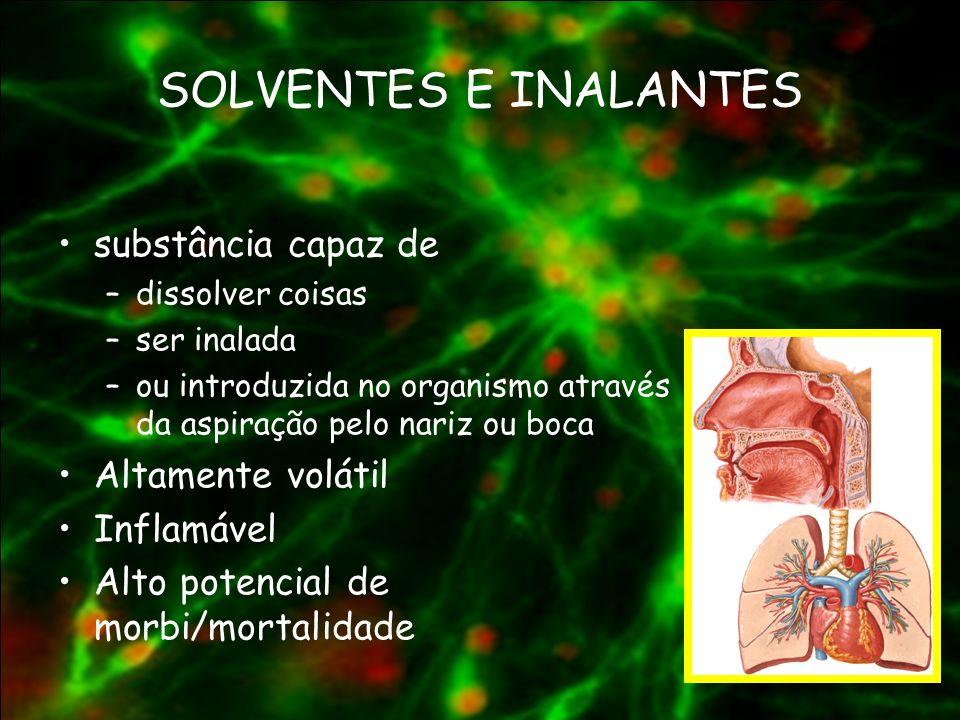 SOLVENTES E INALANTES substância capaz de Altamente volátil Inflamável