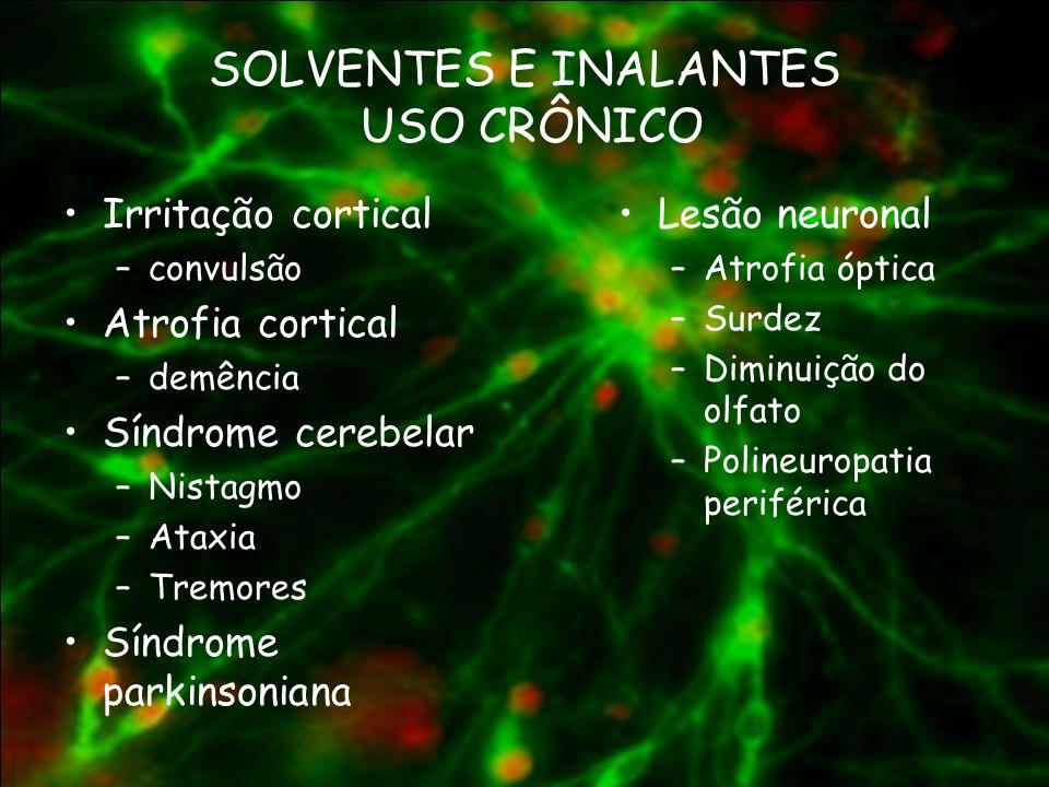 SOLVENTES E INALANTES USO CRÔNICO