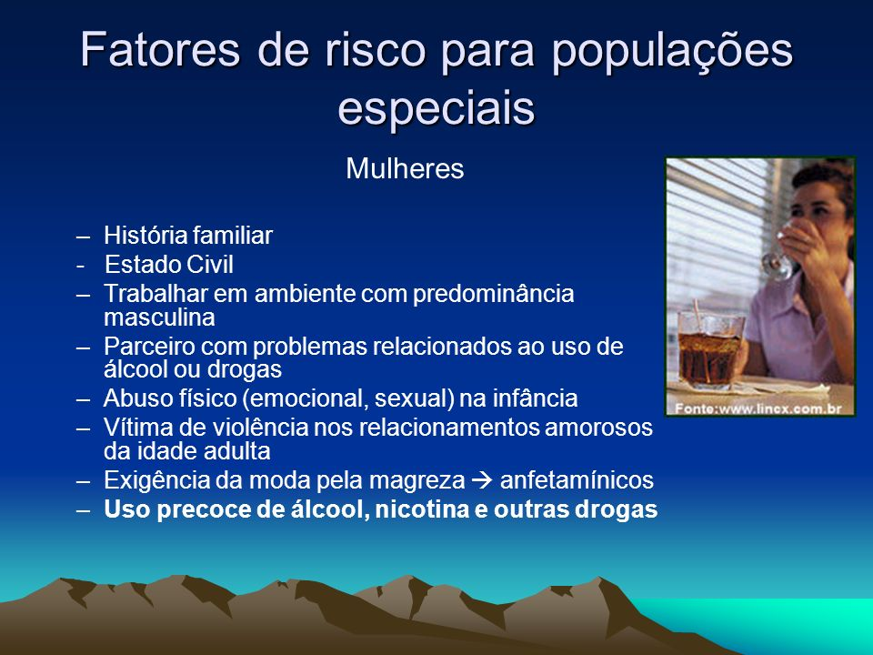 Fatores de risco para populações especiais