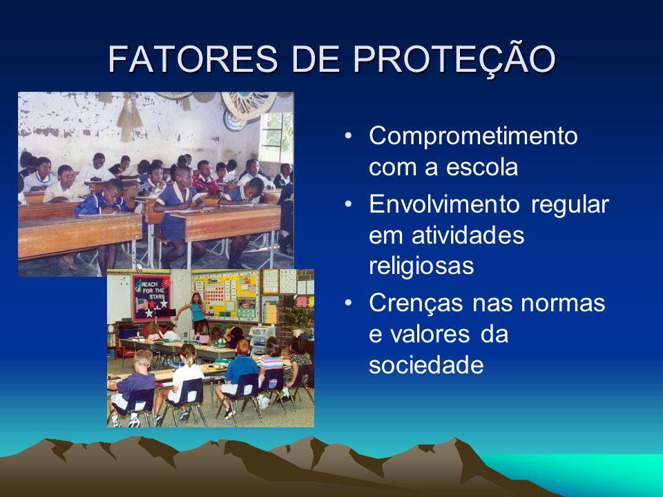 FATORES DE PROTEÇÃO Comprometimento com a escola