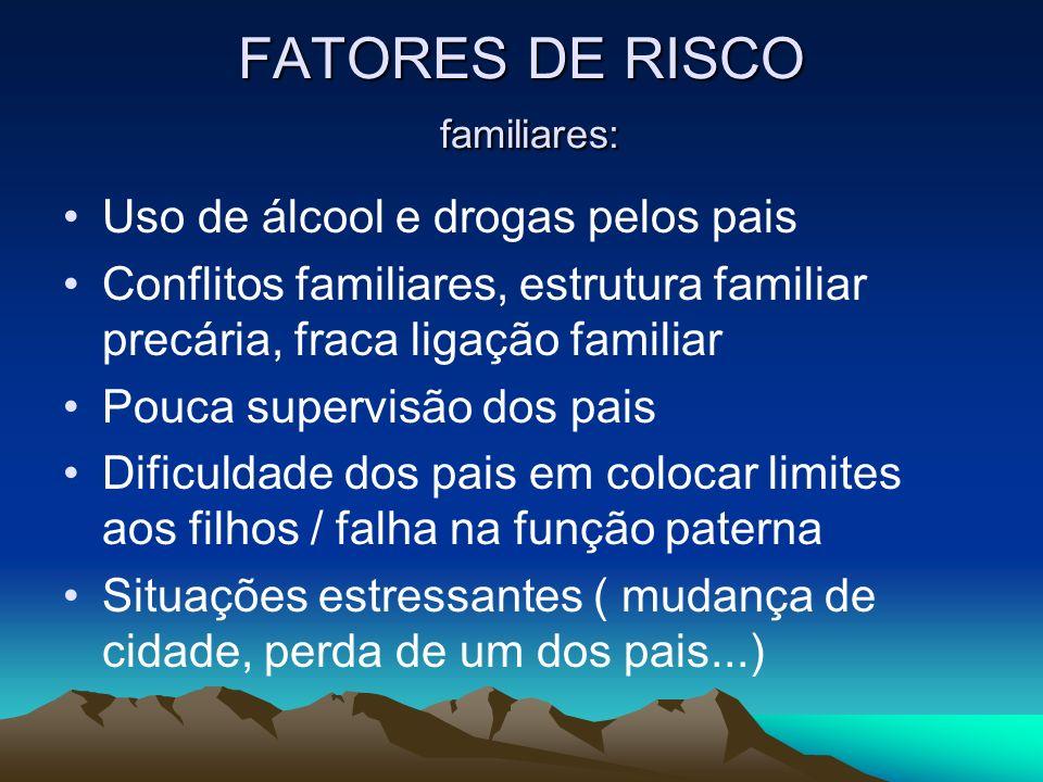 FATORES DE RISCO familiares: