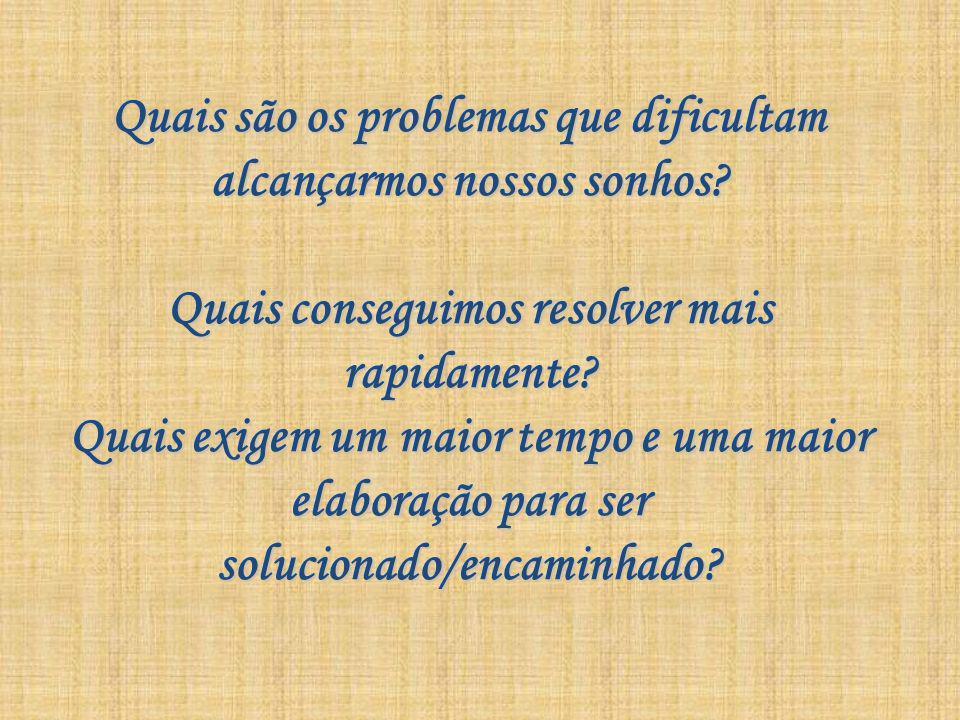 Quais são os problemas que dificultam alcançarmos nossos sonhos