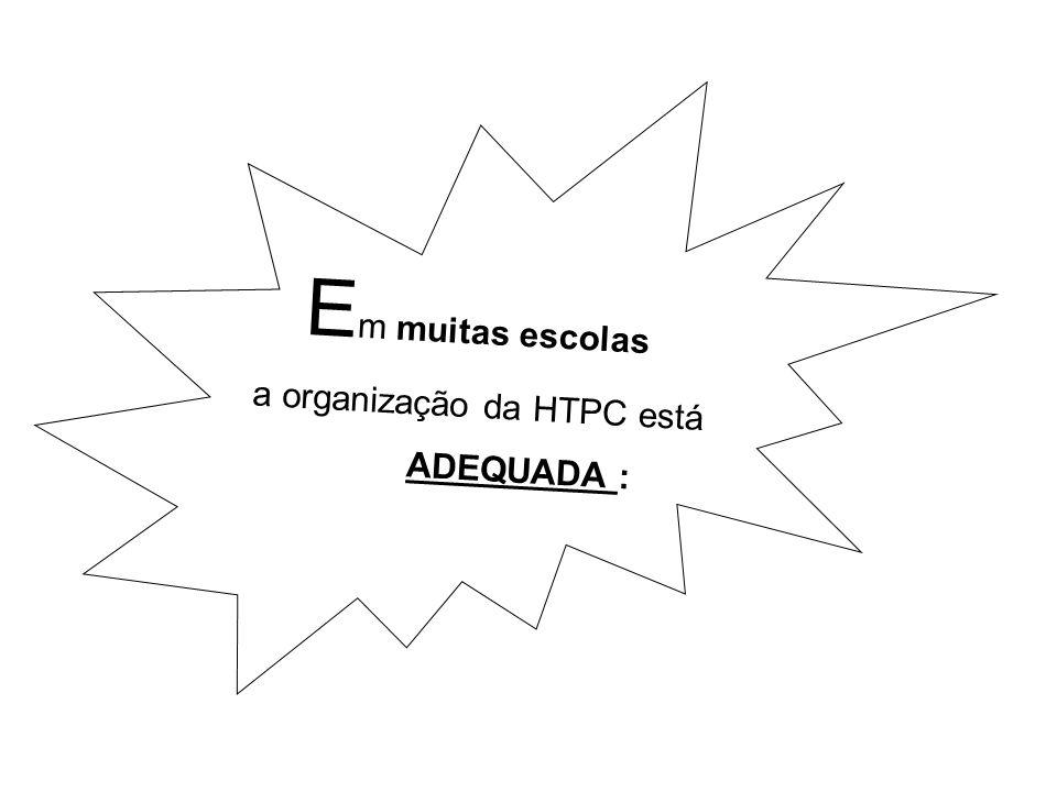 a organização da HTPC está