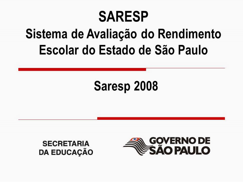 SARESP Sistema de Avaliação do Rendimento Escolar do Estado de São Paulo