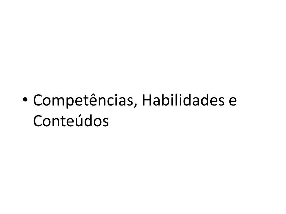 Competências, Habilidades e Conteúdos