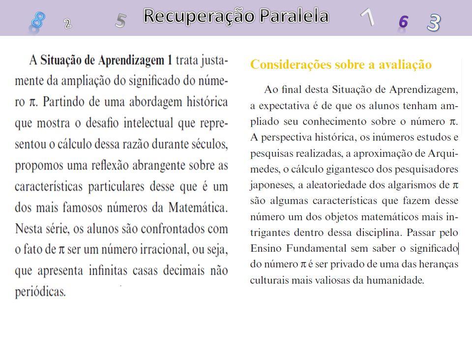 Recuperação Paralela 7 8 5 3 6 2