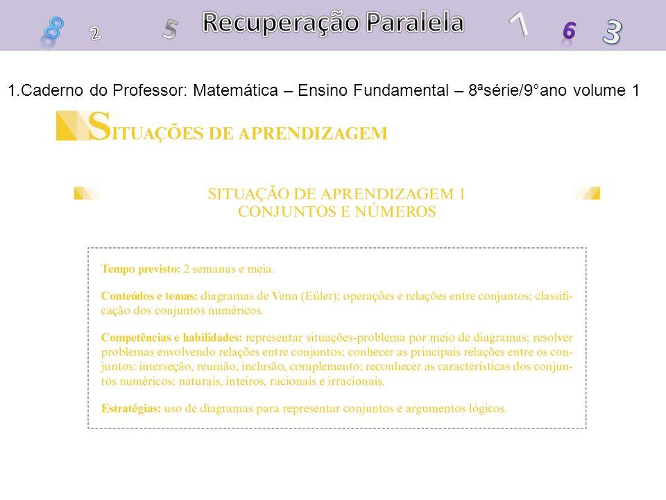 Recuperação Paralela 7. 8. 5. 3. 6. 2.
