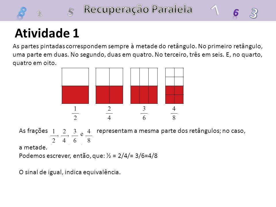 7 3 8 Atividade 1 Recuperação Paralela 5 6 2