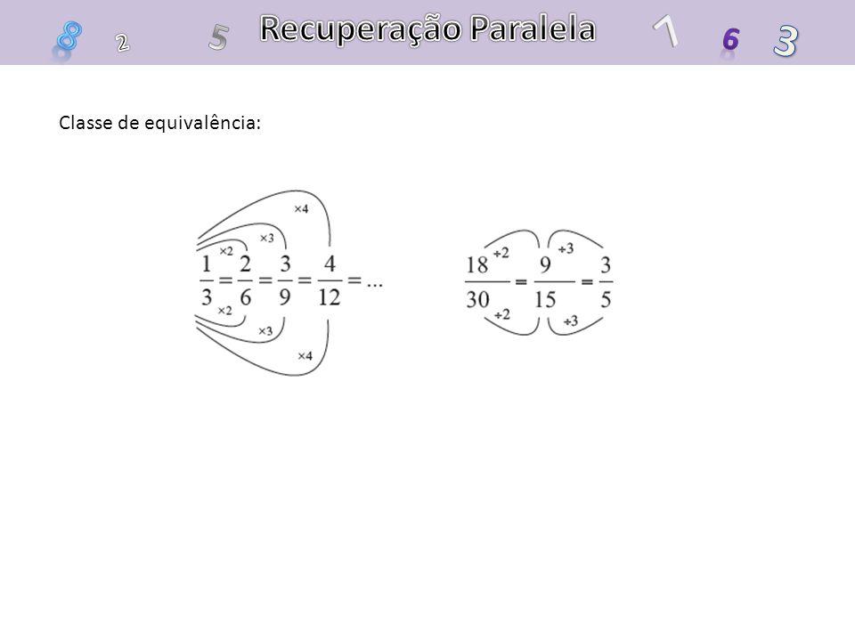 Recuperação Paralela 7 8 5 3 6 2 Classe de equivalência: