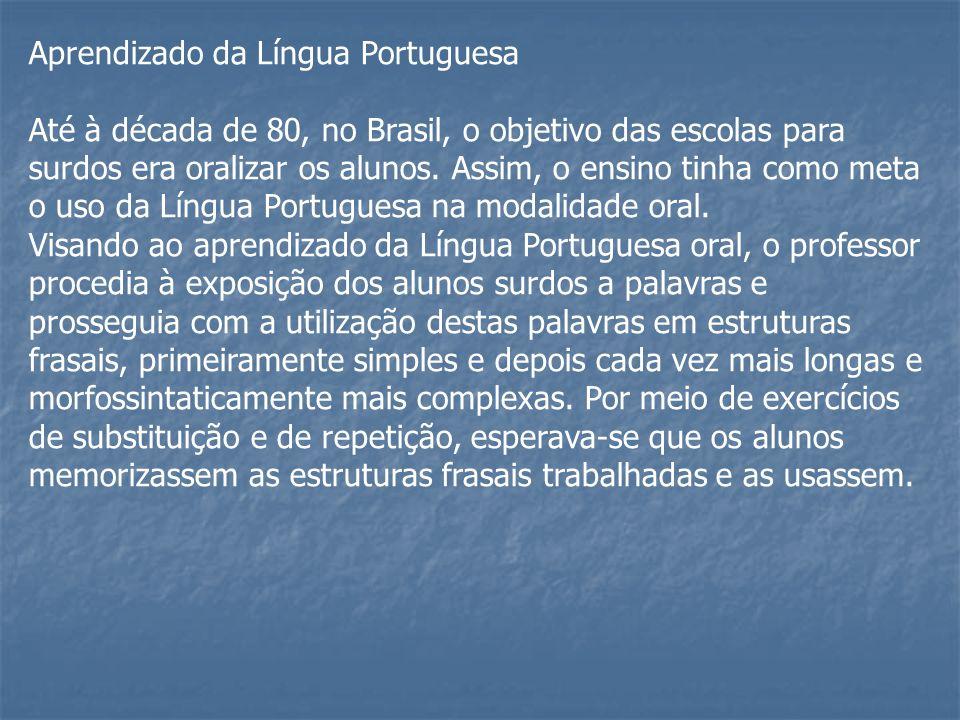 Aprendizado da Língua Portuguesa