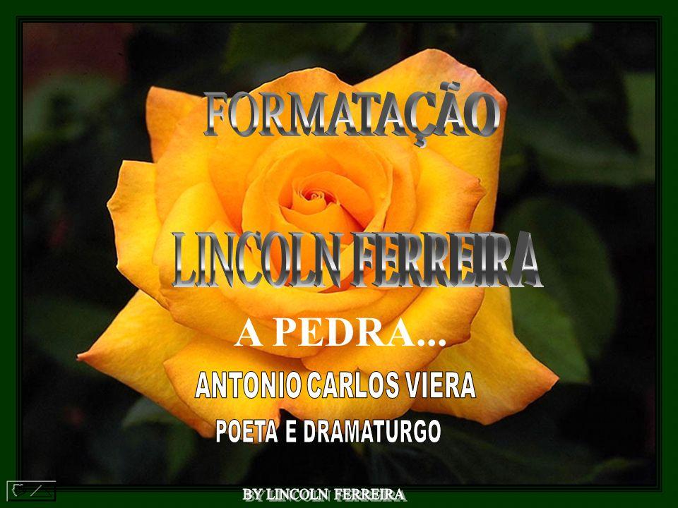 A PEDRA... FORMATAÇÃO LINCOLN FERREIRA ANTONIO CARLOS VIERA