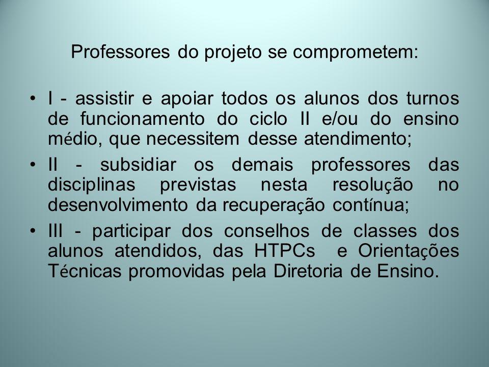 Professores do projeto se comprometem: