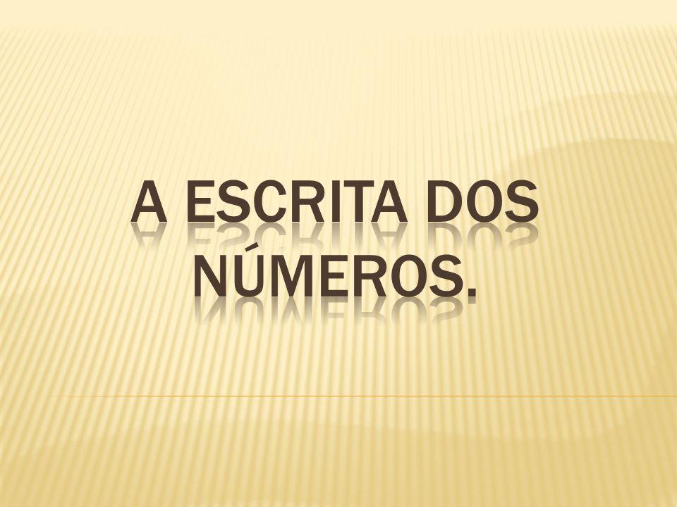 A escrita dos Números.