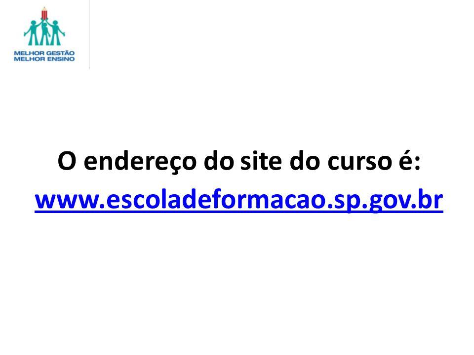 O endereço do site do curso é: