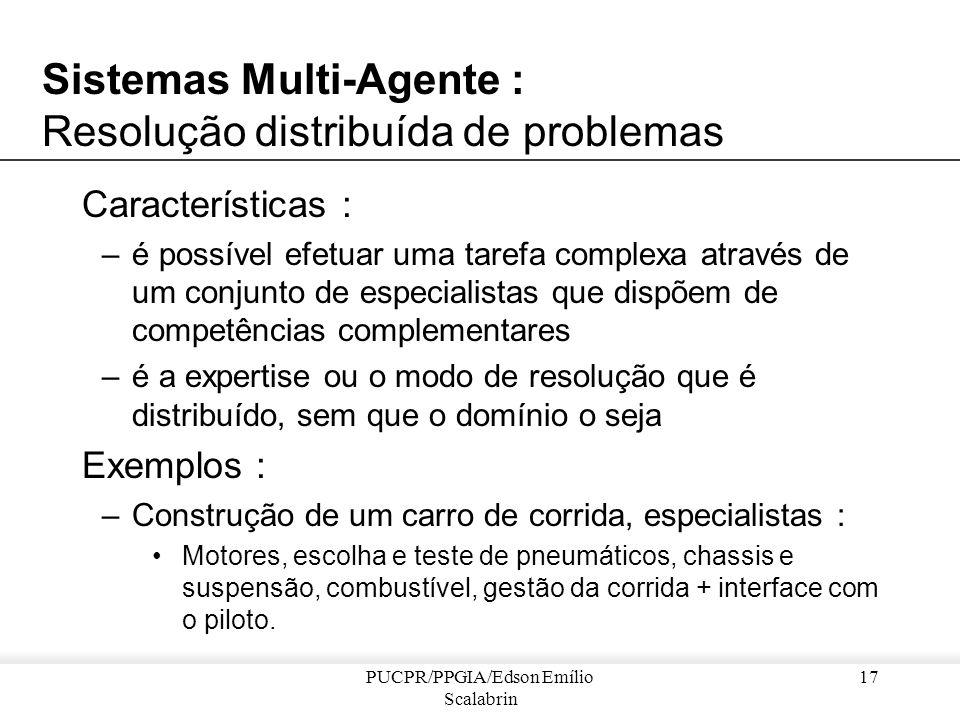 Sistemas Multi-Agente : Resolução distribuída de problemas