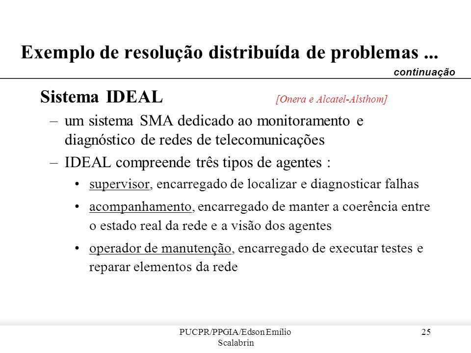 Exemplo de resolução distribuída de problemas ...
