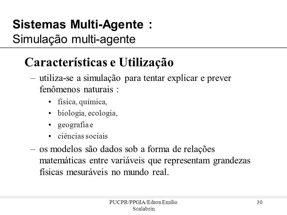 Sistemas Multi-Agente : Simulação multi-agente