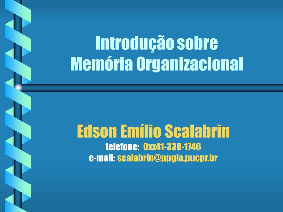 Introdução sobre Memória Organizacional