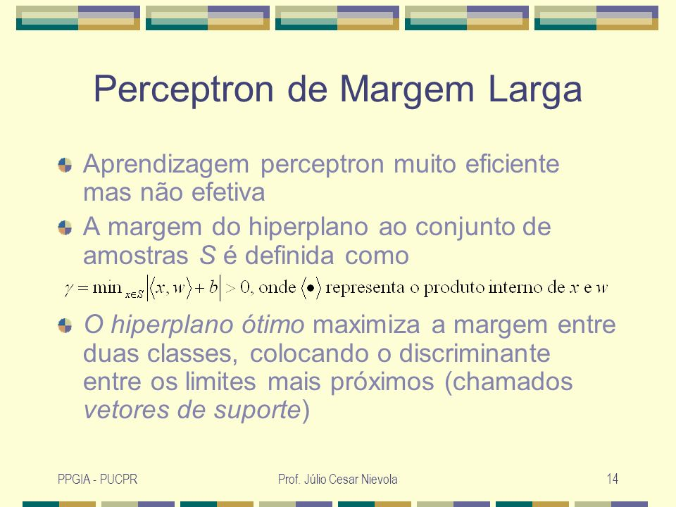 Perceptron de Margem Larga