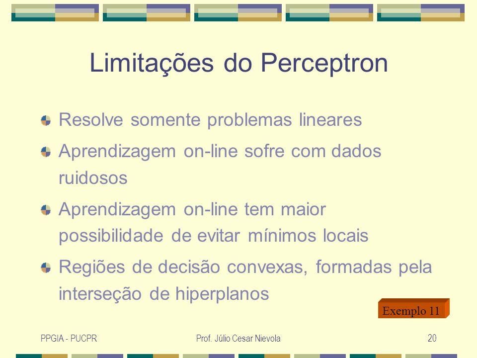 Limitações do Perceptron