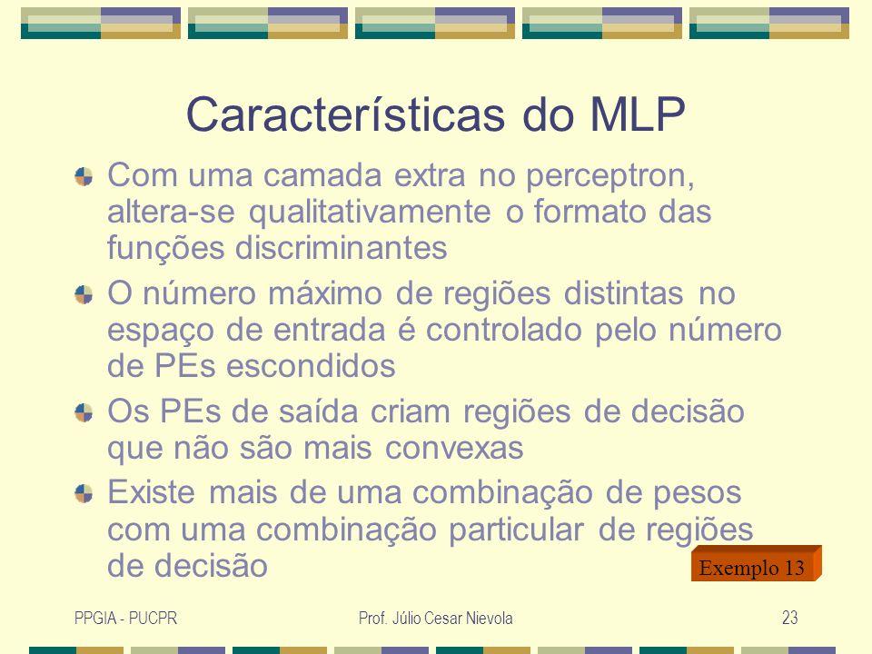 Características do MLP