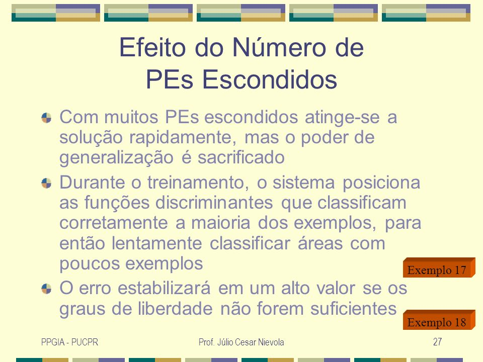 Efeito do Número de PEs Escondidos