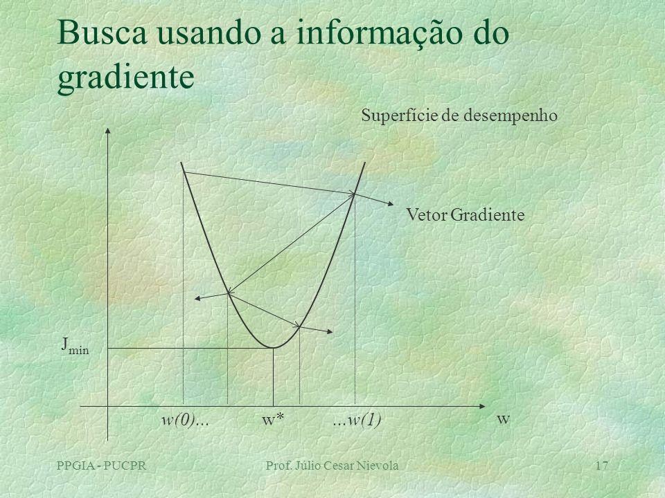 Busca usando a informação do gradiente