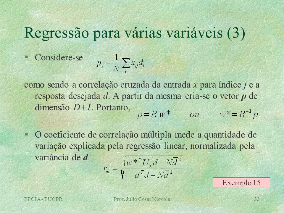 Regressão para várias variáveis (3)