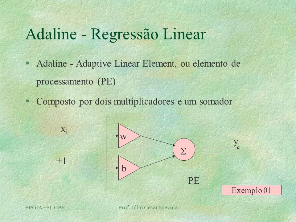 Adaline - Regressão Linear