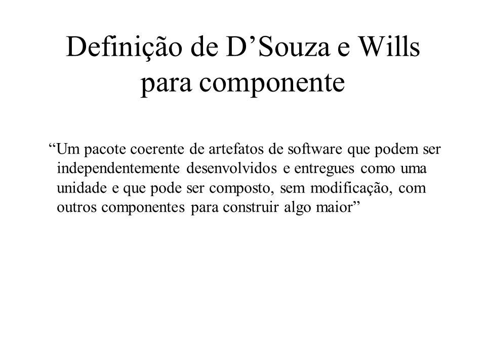 Definição de D'Souza e Wills para componente
